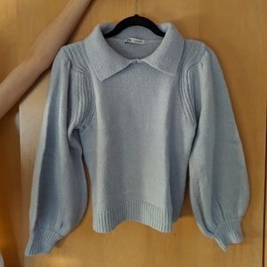 Blue collared sweater
